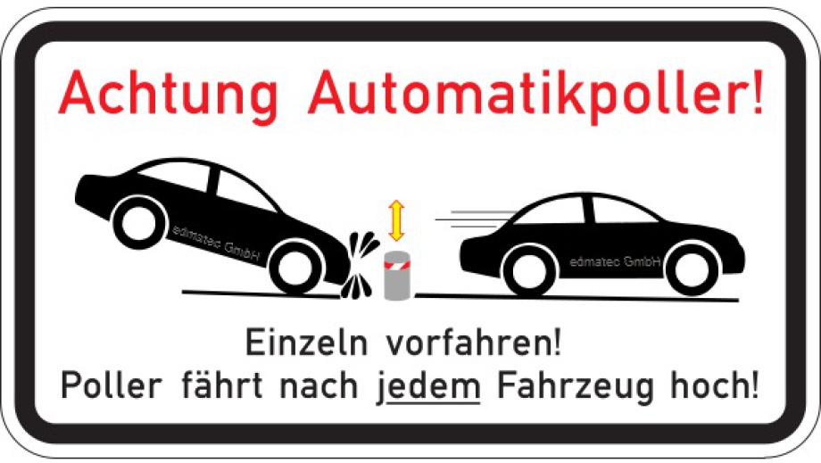 Achtung Automatikpoller!