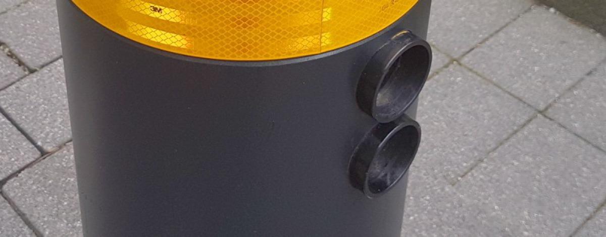 LED Ampel zum Einbau in feststehende Poller