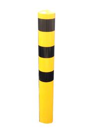 Rammschutzpoller Stahl lackiert gelb mit schwarzen Streifen