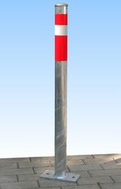 Sperrpfosten zum Aufdübeln verzinkt mit roten Streifen